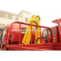 Buy cheap Construction Light Duty Commercial Trucks / Light Cargo Truck With 3 Tons Crane from wholesalers