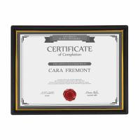Buy cheap Plastic Certificate Display Frame 8.5 X 11 Inches Corporate Award Presentation Usage from wholesalers