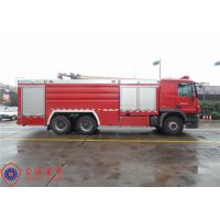 High Capacity Pumper Tanker Fire Trucks Power 265KW With Pump Drive System