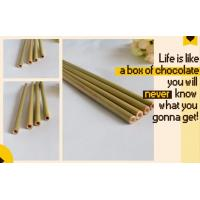 Buy cheap Eco Friendly Factory Directly Sales Customized Logo Bamboo Straw With Brush 100 % Natural Bamboo Straw bagease bagpac from wholesalers
