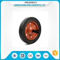 13inches Rubber Tyred Wheels Centered Hub Line Tread 20mm Bore Hole Multi Corlor