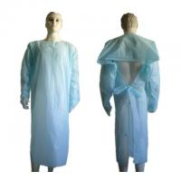Buy cheap Customizable Clear Disposable Plastic Gowns Medical Clothing Anti Blood from wholesalers