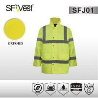 Buy cheap Outdoor worker safety rainwear rain suit jacket and pants , polyester waterproof fabric product