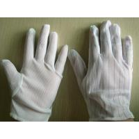 Buy cheap Static Resistant Gloves , Mens White Cotton Gloves Excellent Stretch Tension from wholesalers