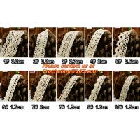 Buy cheap Cotton Crochet Lace Ribbon wholesale Lace Trim for cushion, sofa, curtain, DIY jewelry from wholesalers