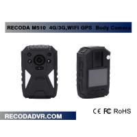 Buy cheap IP65 5MP CMOS 4G / 3G WIFI Police Wearing Body Cameras With GPS Tracking from wholesalers