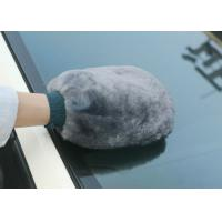 Buy cheap Abrasion Resistant Sheepskin Car Wash Mitt Gentle Surface For Polishing Mirror from wholesalers