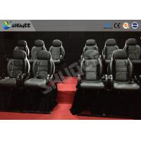 Buy cheap Thrilling 5D Movie Theater Motion Cienma Luxury Black Movement Chairs product