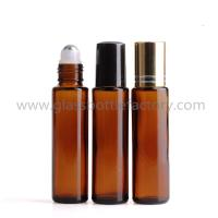 Buy cheap 15ml Amber Round Perfume Roll On Bottle With Cap and Roller from wholesalers