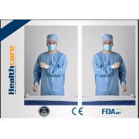 Blue Disposable Sterile Surgical Gowns, Disposable Protective Gowns CE FDA Approved