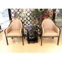 Guest Reception Chairs With Black Lacquer Coffee Table , Commercial Hotel Office Lobby Chairs