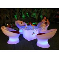 Buy cheap Plastic Modern Bar Chairs Coffee Shop Table and Chairs with RGB Light from wholesalers