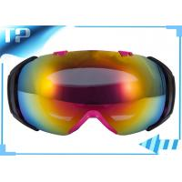 Buy cheap UV FDA / CE TPU Over Glass Youth Ski Goggles Rainbow Chroming Lens from wholesalers