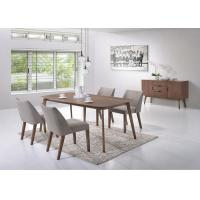 Buy cheap Veneer Top Unique Modern Dining Table Furniture Solid Wood Leg Multi Colors from wholesalers