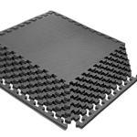 Buy cheap Waterproof Black EVA Foam Interlocking Floor Mats 61x61x1.2cm Size from wholesalers