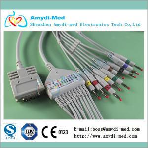 Buy cheap Burdick EK-10,E550,E560 10/12lead ecg/ekg cable with Din 3.0,ekg machine cable product