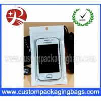 Buy cheap Mobile Phone Plastic Hanger Bags Packaging Heat sealed with Zipper from wholesalers