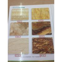 Buy cheap OEM bathroom decorative UV Panel artificial marble for subway station from wholesalers