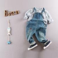 Buy cheap Eco - Friendly Cotton Kids Denim Overalls Jeans For Toddler Boy / Girls from wholesalers
