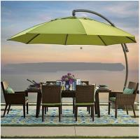 Buy cheap Decorative Yellow Color Offset Patio Hanging Umbrella With Waterproof Fabric from wholesalers
