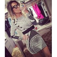 Buy cheap Sexy Foil Print Bodycon Dress Long Sleeve For Party / Club / Celebrity from wholesalers
