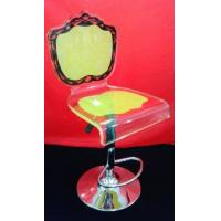 Buy cheap High Grade Crystal Acrylic Bar Chair With Rolling Base For Gift , Colorful product