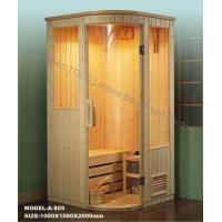 Buy cheap Dry Steam Sauna Cabins , Electric Pine / Cedar / Hemlock Sauna Rooms product