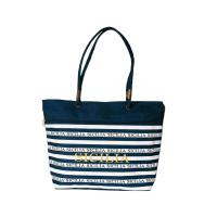 Buy cheap Polyester Personalized Tote Bags / Tote Bag Souvenir With Front Zipper Pocket from wholesalers