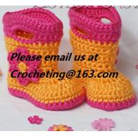 Buy cheap New shoes for baby girl 12 colors knitted booties Newborn crochet booties baby moccasins first walker shoes from wholesalers