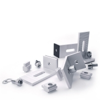 Buy cheap Anodizing Frameless Adjustable Solar Mounting Clamps For PV Mounting Brackets from wholesalers