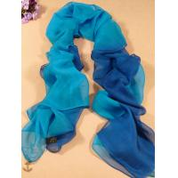 Buy cheap 2013 new fashion mazarine and Light blue gradient color Hand Painted Silk Scarf/ chiffon scarves shawls from wholesalers