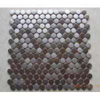 Buy cheap Antique Small Metallic Border Tiles , Stainless Steel Penny Round Mosaic Tile from wholesalers