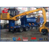 Buy cheap Light Scrap Metal Logger Baler Mobile Bailing Press Machine With Grab and Diesel Engine from wholesalers