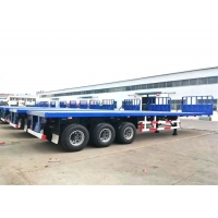 Buy cheap Diesel Flat Bed 3 Axle 40 Ft Shipping Container Trailer from wholesalers