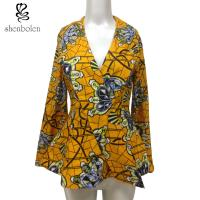 Buy cheap Fashion Design Women African Ladies Jackets Long Flare Sleeve Wax Printed from wholesalers