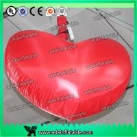Buy cheap 1m/3ft Hanging Inflatable Red Heart With LED Light For Club Event Decoration from wholesalers