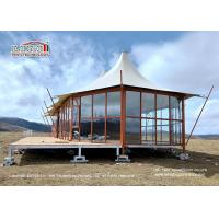 Buy cheap Double PVC - Coated Polyester Outdoor Event Tents / Luxury Hotel Tent For Camping from wholesalers