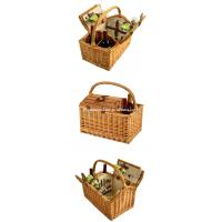 Buy cheap Wholesale Cheap Willow Wine Hamper Wicker Empty Picnic Basket with Service for 2 from wholesalers