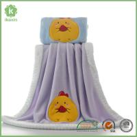 Buy cheap Binding Purple Flannel Baby Blanket With Customized Embroidery Logo from wholesalers