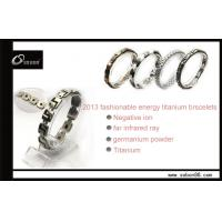 Buy cheap Custom Size Health Benefits Pure Titanium Negative Ion Energy Magnetic Titanium Bracelets from wholesalers
