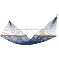 Buy cheap Swing All Weather Garden Rope Hammock For Two Hardwood Bar Included Dark Blue from wholesalers