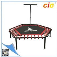 Buy cheap Red Color Mini Trampoline With Steel Frame 127x127x30cm Size  Kids Trampoline product