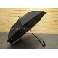 Buy cheap Business Style Rubber J Handle Umbrella  , Plain Black Umbrella Latest Design from wholesalers