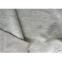 China Super Short Plush Mink 200gsm Embossed Polyester Fabric on sale