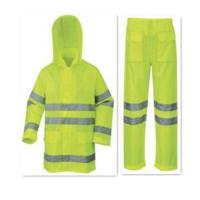 Buy cheap Triangle Mesh Yellow Rain Suit with Effective Tape from wholesalers