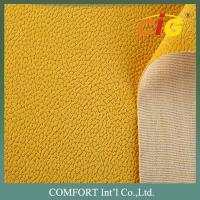 Buy cheap Anti - Mildew Yellow Sofa suede Upholstery Fabric 142cm 320gsm TC backing product