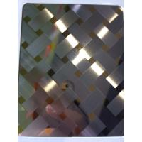 Buy cheap China manufacturer 3D combination craft mirror hairline stainless steel sheets in foshan from wholesalers