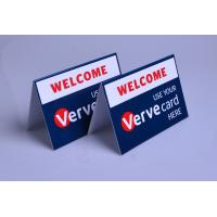 Buy cheap Custom printed plastic PVC Verve Card payment way accepted display table tents from wholesalers