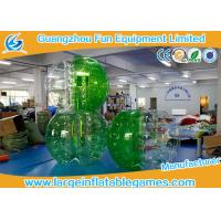Buy cheap Soft Handle / Safe Belt Inflatable Green half-color bumper ball  with SGS CE Certification product