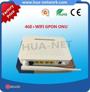 Buy cheap Plastic White WIFI ONU FTTH ONU/Fiber ONU 4GE+WIFI GPON ONU/ONT with competitive price product